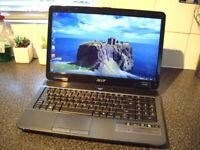 "Acer Aspire Laptop, Windows10, Intel i5, Plenty of space 500Gb, 15.6"" Widescreen, Excellent Conditon"
