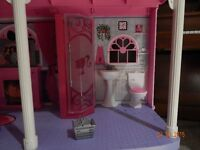 Barbie dream house 3 level with elevator