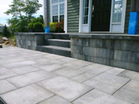 Retaining walls, walkways, driveway interlocking brick
