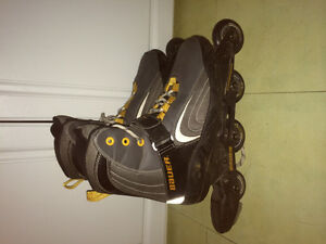 Like new Bauer xtra 4.5 inline rollerblades size 11 mens