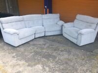 SCS DESTINY CURVED 4 seater sofa and love seat brand new