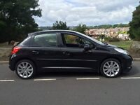 2006 56 Peugeot 207 Gt 1.6 hdi 110 # pan roof # half leather # cheap tax and insurance model