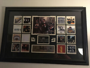 Framed album cover collection of The Beatles