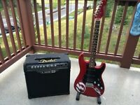 Fender Stratocaster HSS with Stand, Amp and Patch cord