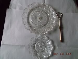 Glass cake server & Plate for sale