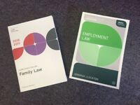 Law degree course text books core statues on family and employment law