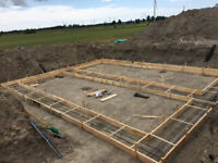 Footings and formwork