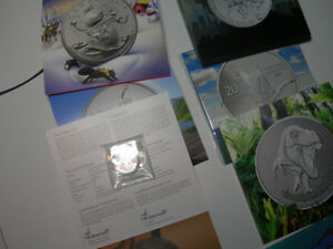 pièces de monnaie canadienne en argent