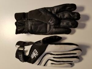 Olson leather curling gloves.