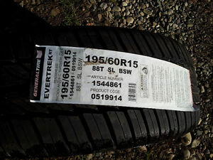 195/60/15 - 2 Brand New All Season Tires