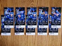 CANUCKS Game Packs ** BELOW COST ** GREAT VIEW * 1 Row from Rail