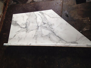 marbled counter top