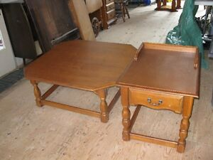 Solid Maple Coffee Table and one End Table