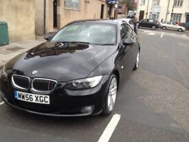 Stunning Black BMW 330d coupe 3.0l automatic, black leather interior,
