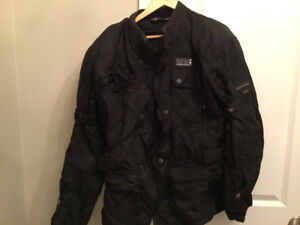 MOTORCYCLE JACKET WITH LINER AND RAIN COVER