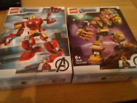 Iron man & Thanos Mech Lego sets boxed and complete