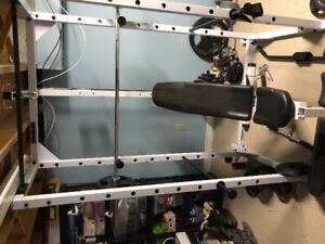 Powerline power rack and weights