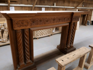 Solid Wood Handcrafted Fireplace Mantles