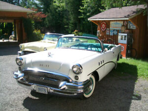 White 1955 Buick Special Convertible.