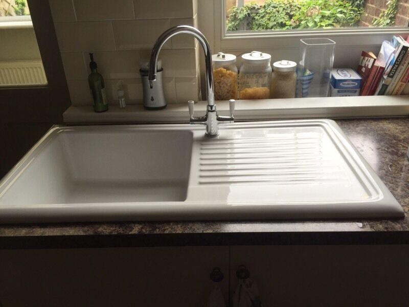 Cream Ceramic Kitchen Sink In Harrogate North Yorkshire