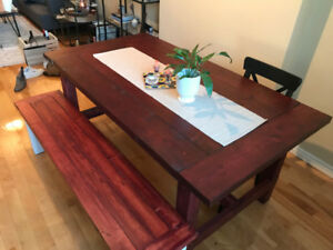 Stunning hand-made pine dining room table