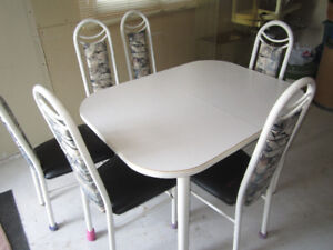 Table à dîner-Dining table with 6 chairs