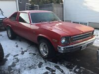 1976 CHEVROLET NOVA IN VERY GOOD CONDITION $10000 O.B.O