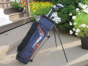 Men's Left Hand 11-pc Golf Clubs Set (Cadiegear) & Golf Bag