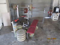 325 pounds of york weights
