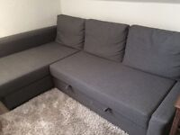 Corner sofa-bed with storage - IKEA FRIHETEN Dark Grey