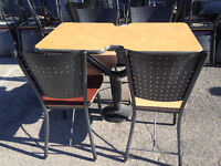 used restaurant, cafeteria, food court,chairs and tables