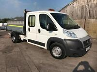 FIAT DUCATO 2.3 DOUBLE CAB TIPPER, White, Manual, Diesel, 2015