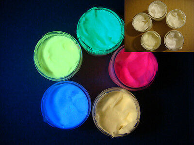 UV body paint invisible hypoallergenic non-toxic neon glow - choose color