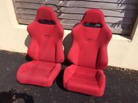 Red Recaro seats Civic Type R EP3