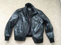 Men's Black Leather Jacket. Size Large.