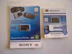 Sony memory Stick PRO Duo 2+4 GB and Adapter