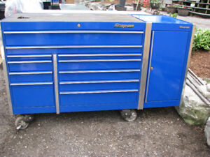 SNAP-ON Double Bank w/Side Cabinet