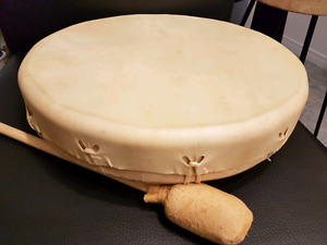 SOLD -Native American Rawhide Frame Drum / Percussion Instrument