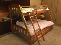 Single/Double Bunk Bed with Mattresses