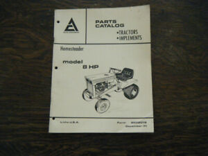 Allis Chalmers Homesteader Tractor  8hp #9002018 Parts Catalog