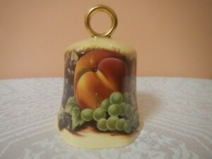 """Aynsley Bell Orchard Gold 3.5"""" tall Signed, Made in England"""