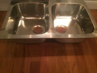 Brand NEW Double-bowl inset sink stainless steel from IKEA