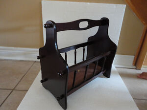 Decorative solid wooden magazine stand holder London Ontario image 3