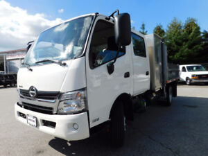 2016 Hino 195 Crew Cab w/ 9ft Dump w/ Tool Box and 5.0L Diesel