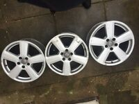 Original Audi rs alloys 18 inch 5 spoke ronal