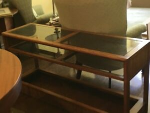 Glass Topped Credenza for Sale