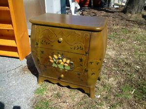Antique hand painted small dresser