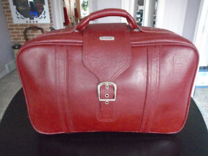 Samsonite Leather Carry-on Suitcase.