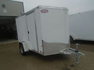 2017 NEO 6' X 10' Single Axle Flat Top Enclosed All Aluminum Ser