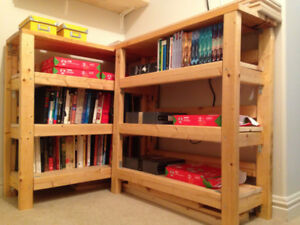 Homemade Shelving Unit - Great for Storage Closet